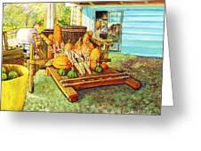 Rosebank Farm Cart Greeting Card