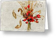 Rosehips And Grasses Greeting Card