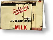 Rosenberger's - Dairy Milk  Greeting Card