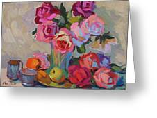 Roses And Apples Greeting Card