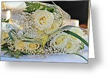 Roses And Baby Breath Greeting Card