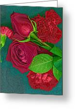 Roses And Carnations Greeting Card