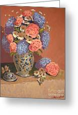 Roses And Daisies II Greeting Card