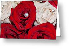 Roses And Diamonds Greeting Card