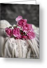 Roses And Lace Greeting Card