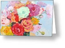 Roses And Ranunculus 2011 Greeting Card