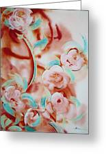 Roses And Rust Greeting Card