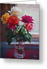 Roses By The Window Greeting Card