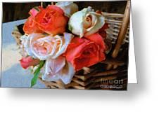 Roses Florentine Greeting Card