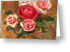 Roses In A Pot Greeting Card