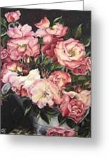 Roses In A Watercan Greeting Card