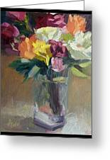 Roses In North Light Greeting Card