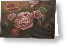 Roses In The Sun Greeting Card by Elizabeth Lane