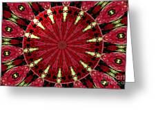 Roses Kaleidoscope Under Glass 11 Greeting Card