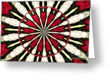 Roses Kaleidoscope Under Glass 17 Greeting Card