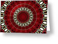 Roses Kaleidoscope Under Glass 18 Greeting Card
