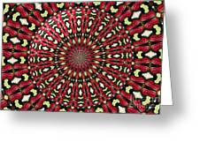 Roses Kaleidoscope Under Glass 21 Greeting Card
