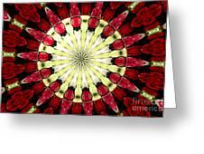 Roses Kaleidoscope Under Glass 23 Greeting Card