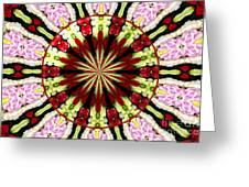Roses Kaleidoscope Under Glass 25 Greeting Card