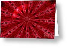 Roses Kaleidoscope Under Glass 26 Greeting Card