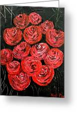 Roses Greeting Card by Kat Poon