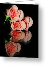 Roses On Glass Greeting Card