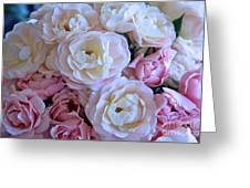 Roses On The Veranda Greeting Card