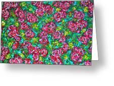 Roses Pattern Greeting Card