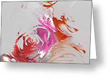 Roses Greeting Card by Soumya Bouchachi