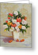 Roses With Apricots Greeting Card