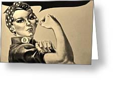 Rosie In Sepia Greeting Card