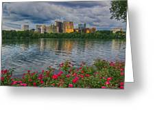 Rosslyn Virginia Sunset From Across The Potomac River Greeting Card