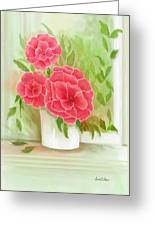 Rosy Pink Pedals Greeting Card