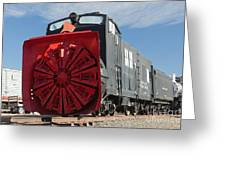 Rotary Snow Thrower 99201 In The Colorado Railroad Museum Greeting Card