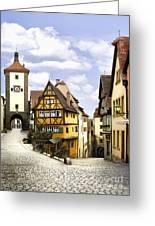 Rothenburg Marketplatz Greeting Card