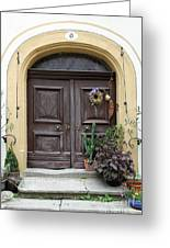 Rothenburg Ob Der Tauber Door  Greeting Card