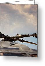 Rotor Navy Helicopter. Greeting Card