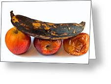 Rotten Fruit Greeting Card