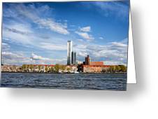 Rotterdam Skyline In Netherlands Greeting Card