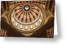 Rotunda Dome On Wings Greeting Card