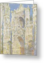 Rouen Cathedral West Facade Greeting Card