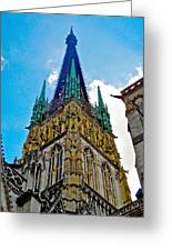 Rouen Church Steeple Greeting Card