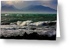 Rough Seas Kaikoura New Zealand Greeting Card