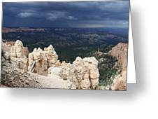 Rough Skys Over Bryce Canyon Greeting Card