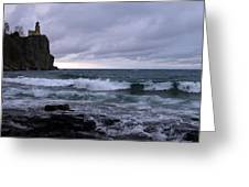 Rough Surf At Split Rock Greeting Card