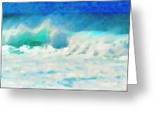 Rough Water Greeting Card
