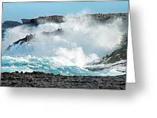 Rough Waves Offshore Whale Point Greeting Card
