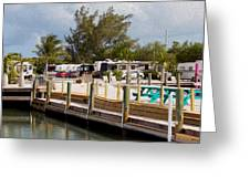 Roughing It In The Keys Greeting Card