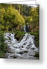 Roughlock Falls South Dakota Greeting Card