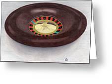 Roulette Wheel Greeting Card by Bav Patel